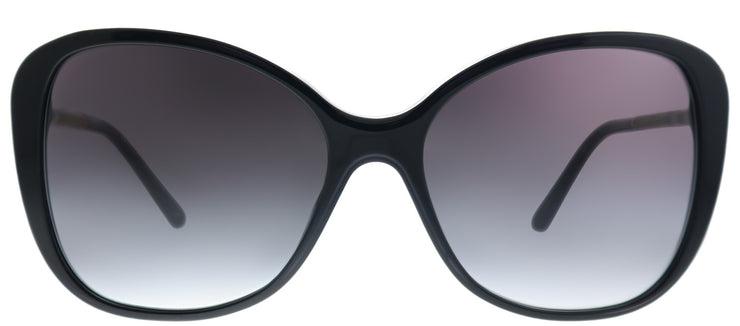 Burberry BE 4235Q 30018G Butterfly Plastic Black Sunglasses with Grey Gradient Lens