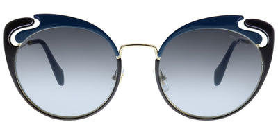Miu Miu MU 57TS C055D1 Butterfly Metal Gold Sunglasses with Grey Gradient Lens