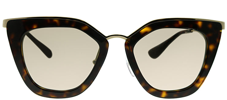Prada PR 53SS 2AU6O0 Cat-Eye Metal Tortoise/ Havana Sunglasses with Gold Mirror Lens