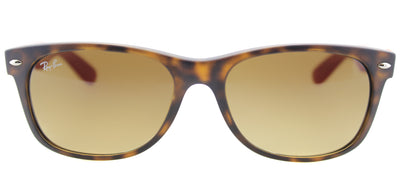 Ray-Ban RB 2132 618185 Wayfarer Plastic Brown Sunglasses with Brown Gradient Lens