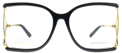 Gucci GG 0592O 001 Butterfly Plastic Black Eyeglasses with Demo Lens
