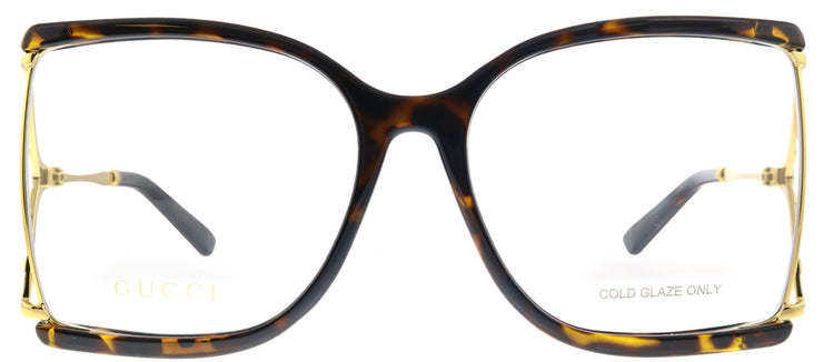 Gucci GG 0592O 002 Butterfly Plastic Tortoise/ Havana Eyeglasses with Demo Lens