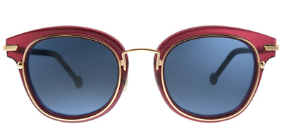 Dior Origins 2 788 Square Plastic Pink Sunglasses with Blue Lens