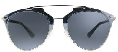 Dior Reflected TK1 Geometric Metal Blue Sunglasses with Grey Lens