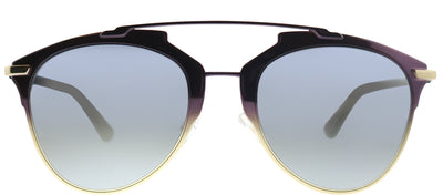 Dior Reflected TYJ Geometric Metal Pink Sunglasses with Grey Ivory Mirror Lens