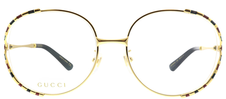 Gucci GG 0596OA 003 Round Metal Gold Eyeglasses with Demo Lens
