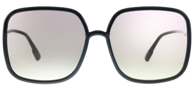 Dior SoStellaire 1 807 VC Square Plastic Black Sunglasses with Pink Lens
