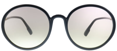 Dior SoStellaire 2 807 VC Round Plastic Black Sunglasses with Pink Lens