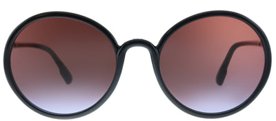 Dior SoStellaire 2 807 YB Round Plastic Black Sunglasses with Red Gradient Lens