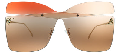 Fendi FF 0399 G63 Butterfly Plastic Pink Sunglasses with Red Lens