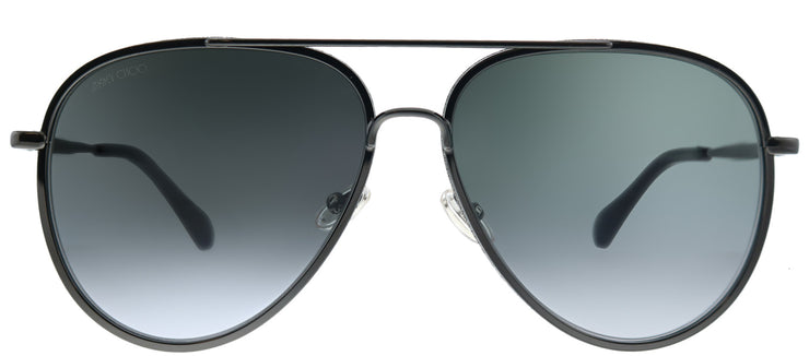 Jimmy Choo JC Triny 807 Aviator Metal Black Sunglasses with Grey Gradient Lens
