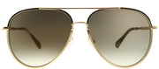 Jimmy Choo JC Triny J5G Aviator Metal Gold Sunglasses with Brown Lens