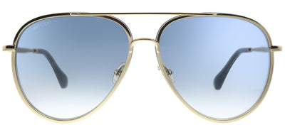 Jimmy Choo JC Triny LKS Aviator Metal Gold Sunglasses with Blue Gradient Lens