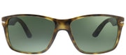 Persol PO 3195S 105431 Rectangle Plastic Tortoise/ Havana Sunglasses with Green Lens