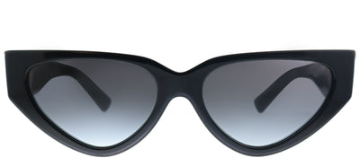 Valentino VA 4063 50018G Geometric Plastic Black Sunglasses with Grey Gradient Lens