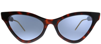 Gucci GG 0597S 002 Cat-Eye Plastic Tortoise/ Havana Sunglasses with Blue Lens