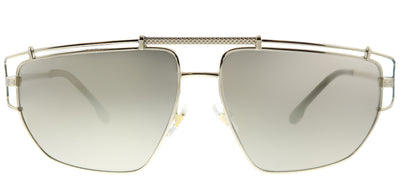 Versace VE 2202 12525A Geometric Metal Gold Sunglasses with Gold Mirror Lens
