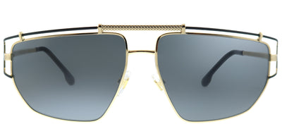 Versace VE 2202 143687 Geometric Metal Gold Sunglasses with Grey Lens