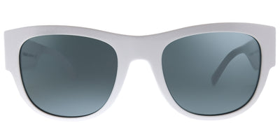 Versace VE 4359 401/87 Square Plastic Ivory/ White Sunglasses with Grey Lens