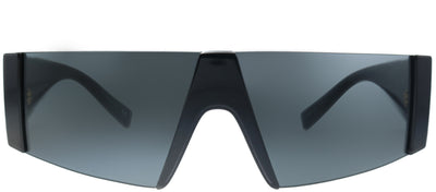 Versace VE 4360 GB1/87 Shield Plastic Black Sunglasses with Grey Lens