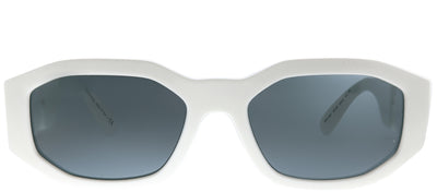 Versace VE 4361 401/87 Geometric Plastic Ivory/ White Sunglasses with Grey Lens
