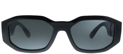 Versace VE 4361 GB1/87 Geometric Plastic Black Sunglasses with Grey Lens