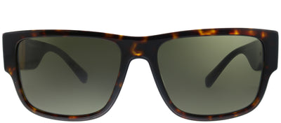 Versace VE 4369 108/82 Rectangle Plastic Tortoise/ Havana Sunglasses with Green Lens