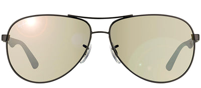 Ray-Ban RB 8313 002/K7 Aviator Metal Black Sunglasses with Grey Polarized Lens