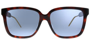 Gucci GG 0599SA 002 Square Plastic Tortoise/ Havana Sunglasses with Blue Lens