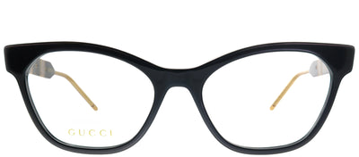 Gucci GG 0600O 001 Cat-Eye Plastic Black Eyeglasses with Demo Lens