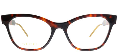 Gucci GG 0600O 002 Cat-Eye Plastic Tortoise/ Havana Eyeglasses with Demo Lens