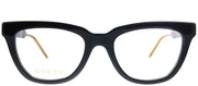 Gucci GG 0601O 001 Cat-Eye Plastic Black Eyeglasses with Demo Lens