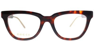Gucci GG 0601O 002 Cat-Eye Plastic Tortoise/ Havana Eyeglasses with Demo Lens
