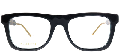 Gucci GG 0604O 001 Square Plastic Black Eyeglasses with Demo Lens