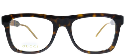 Gucci GG 0604O 002 Square Plastic Tortoise/ Havana Eyeglasses with Demo Lens