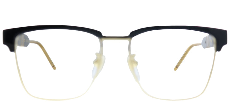 Gucci GG 0605O 001 Square Metal Black Eyeglasses with Demo Lens