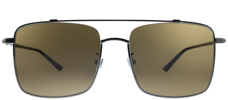 Gucci GG 0610SK 002 Square Metal Silver Sunglasses with Brown Gradient Lens