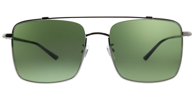 Gucci GG 0610SK 003 Square Metal Silver Sunglasses with Green Lens