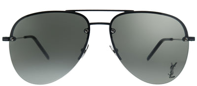 Saint Laurent SL Classic11M 001 Aviator Metal Black Sunglasses with Grey Lens