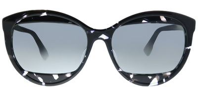 Dior Mania 2 AB8 T4 Round Plastic Grey Sunglasses with Silver Mirror Lens