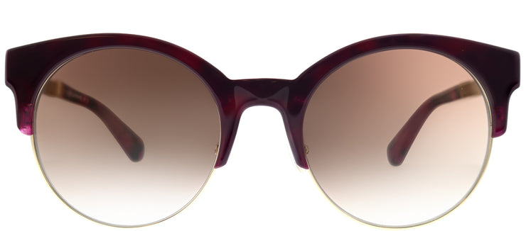 Kate Spade KS Kaileen/S YDC Round Plastic Burgundy/ Red Sunglasses with Brown Gradient Lens