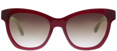 Kate Spade KS Krissy/S S1K QH Square Plastic Burgundy/ Red Sunglasses with Gold Mirror Gradient Lens