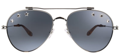 Givenchy GV 7057/N Stars SRJ Aviator Metal Ruthenium/ Gunmetal Sunglasses with Grey Lens