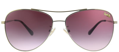 Coach HC 7079 93228H Aviator Metal Gold Sunglasses with Burgundy Gradient Lens