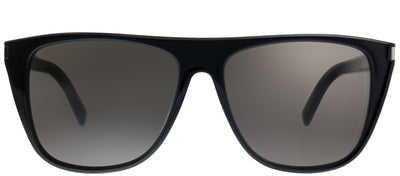 Saint Laurent SL 1/F 001 Square Plastic Black Sunglasses with Grey Lens