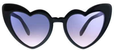 Saint Laurent SL 181LouLou 009 Fashion Plastic Black Sunglasses with Violet Gradient Lens