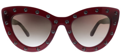 Kate Spade KS Luann/S S1K Cat-eye Plastic Burgundy/ Red Sunglasses with Gold Mirror Gradient Lens
