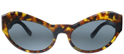 Versace VE 4356 511987 Cat-Eye Plastic Tortoise/ Havana Sunglasses with Grey Lens