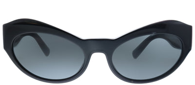 Versace VE 4356 GB1/87 Cat-Eye Plastic Black Sunglasses with Grey Lens