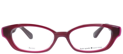 Kate Spade KS Amedia/F S1K Square Plastic Burgundy/ Red Eyeglasses with Demo Lens